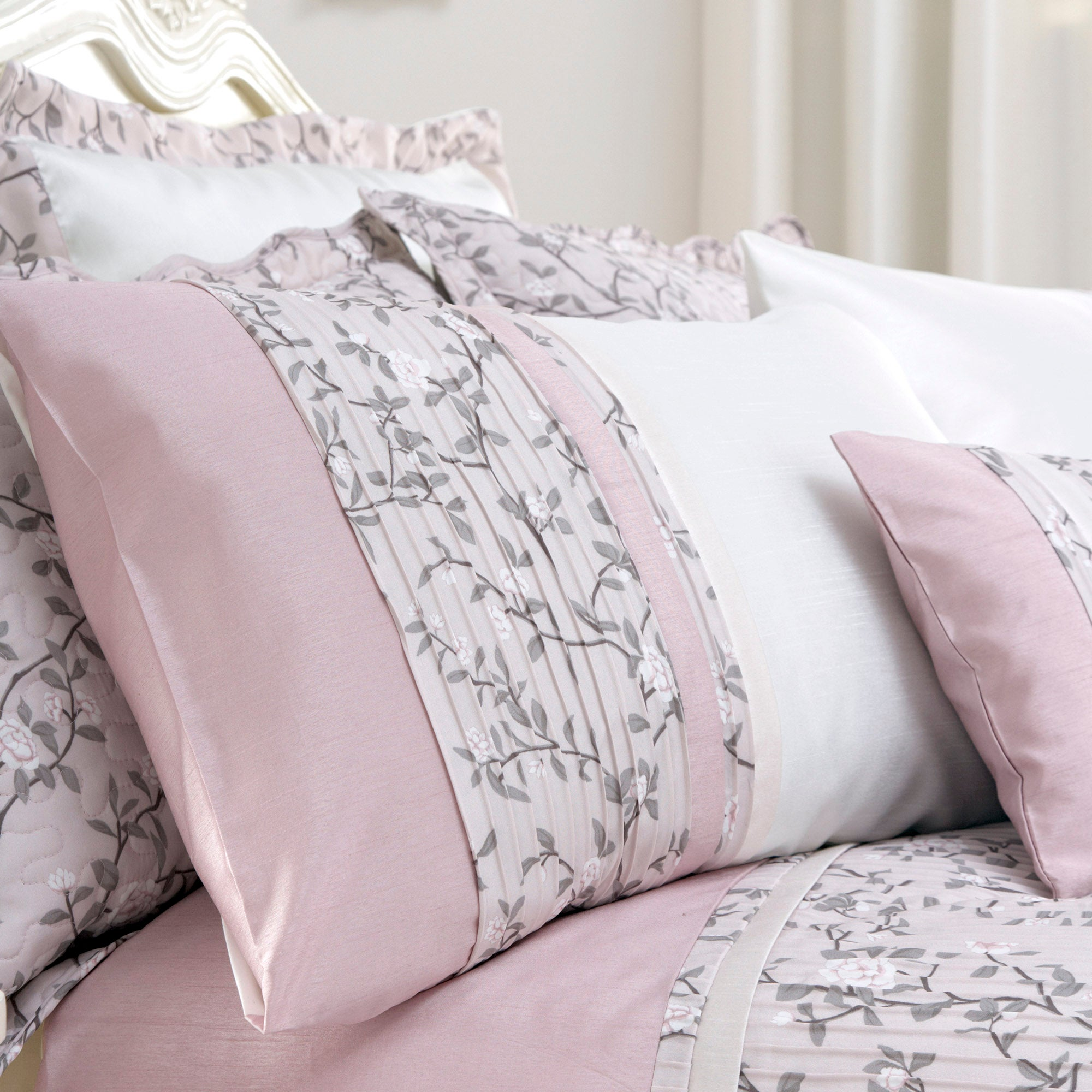 Dusky Pink Chinoiserie Collection Housewife Pillowcase