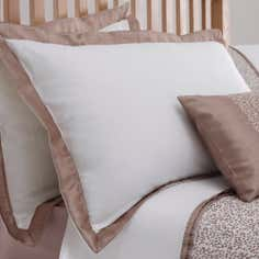 Taupe Mercury Collection Oxford Pillowcase