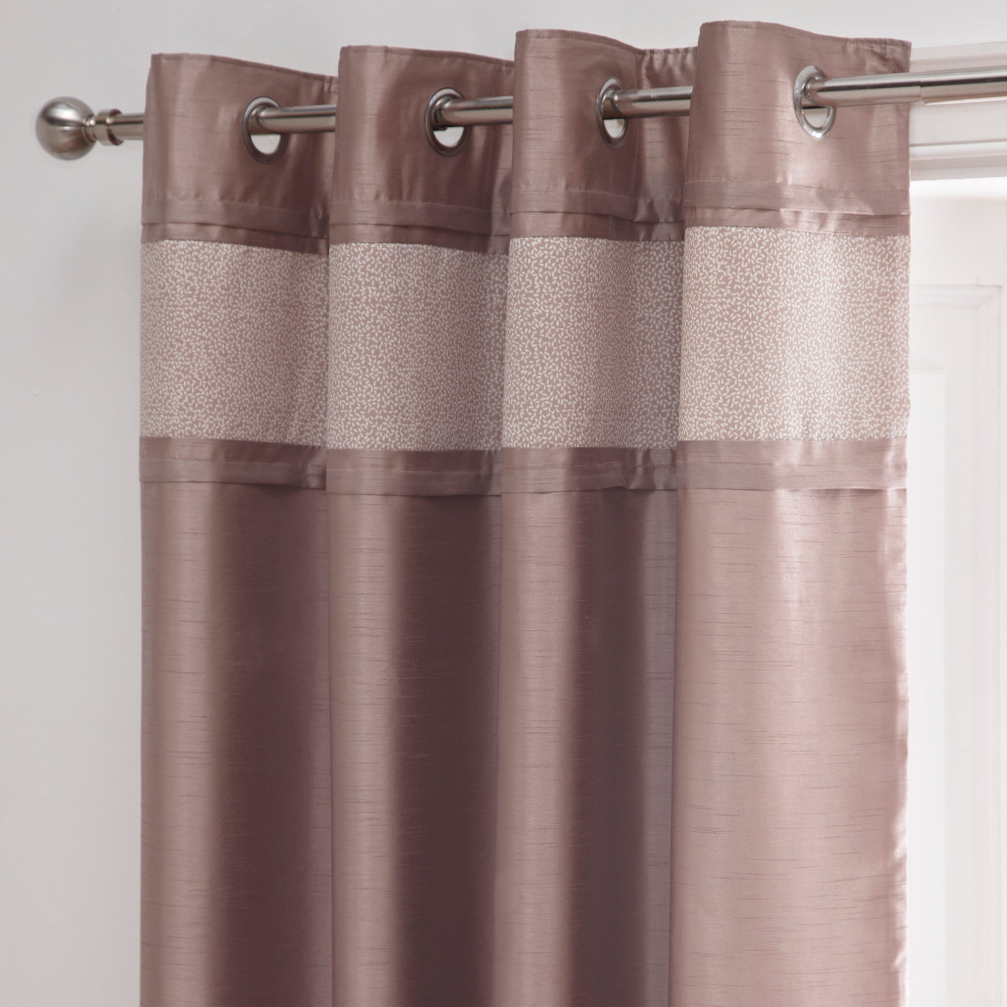 Taupe Mercury Collection Thermal Eyelet Curtains