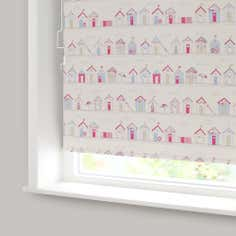 Beach Huts Cordless Blackout Roller Blinds