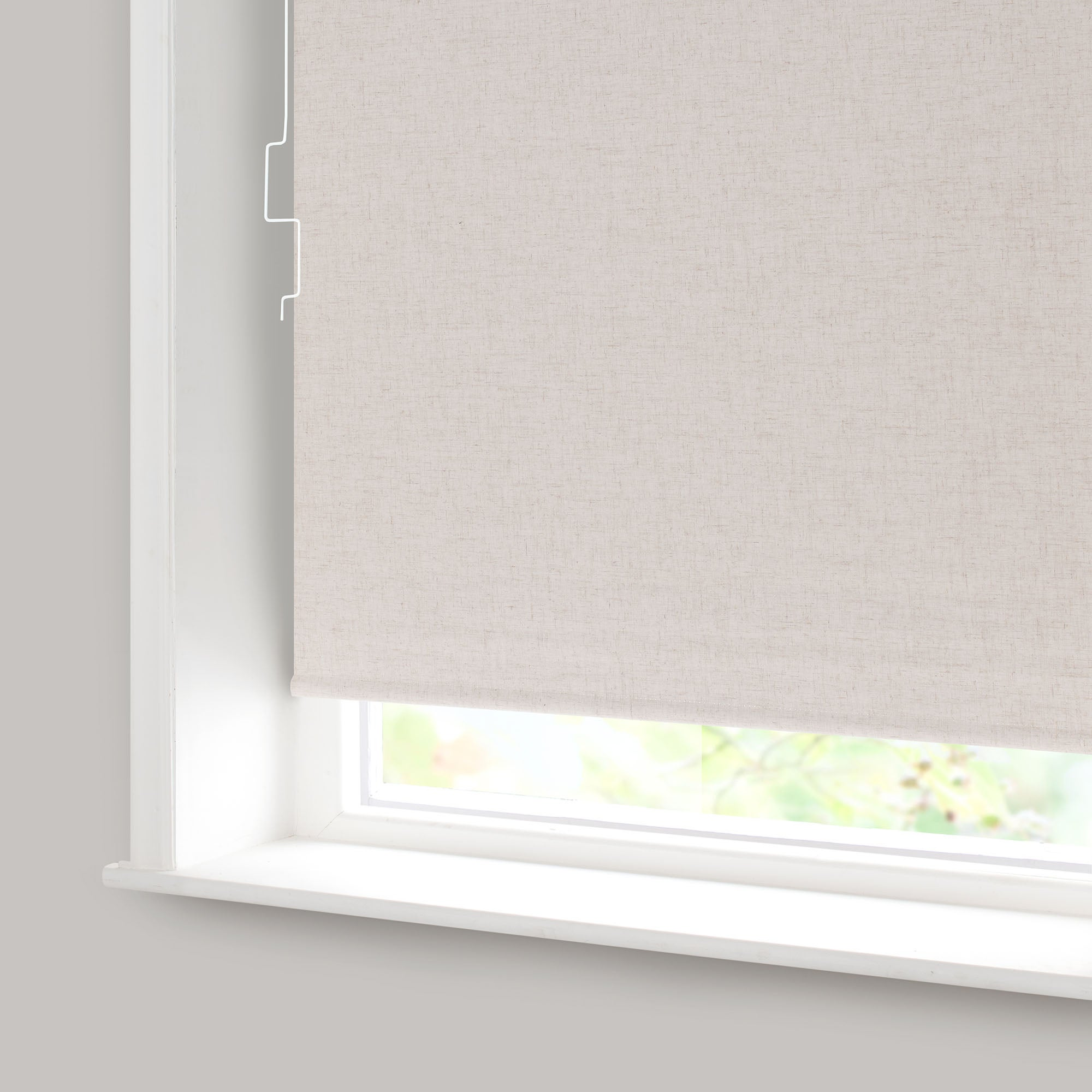 Natural Linen Blackout Cordless Roller Blind