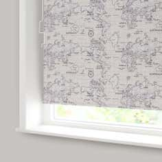 Natural Maps Blackout Cordless Roller Blind