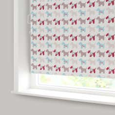Scottie Dogs Blackout Cordless Roller Blind