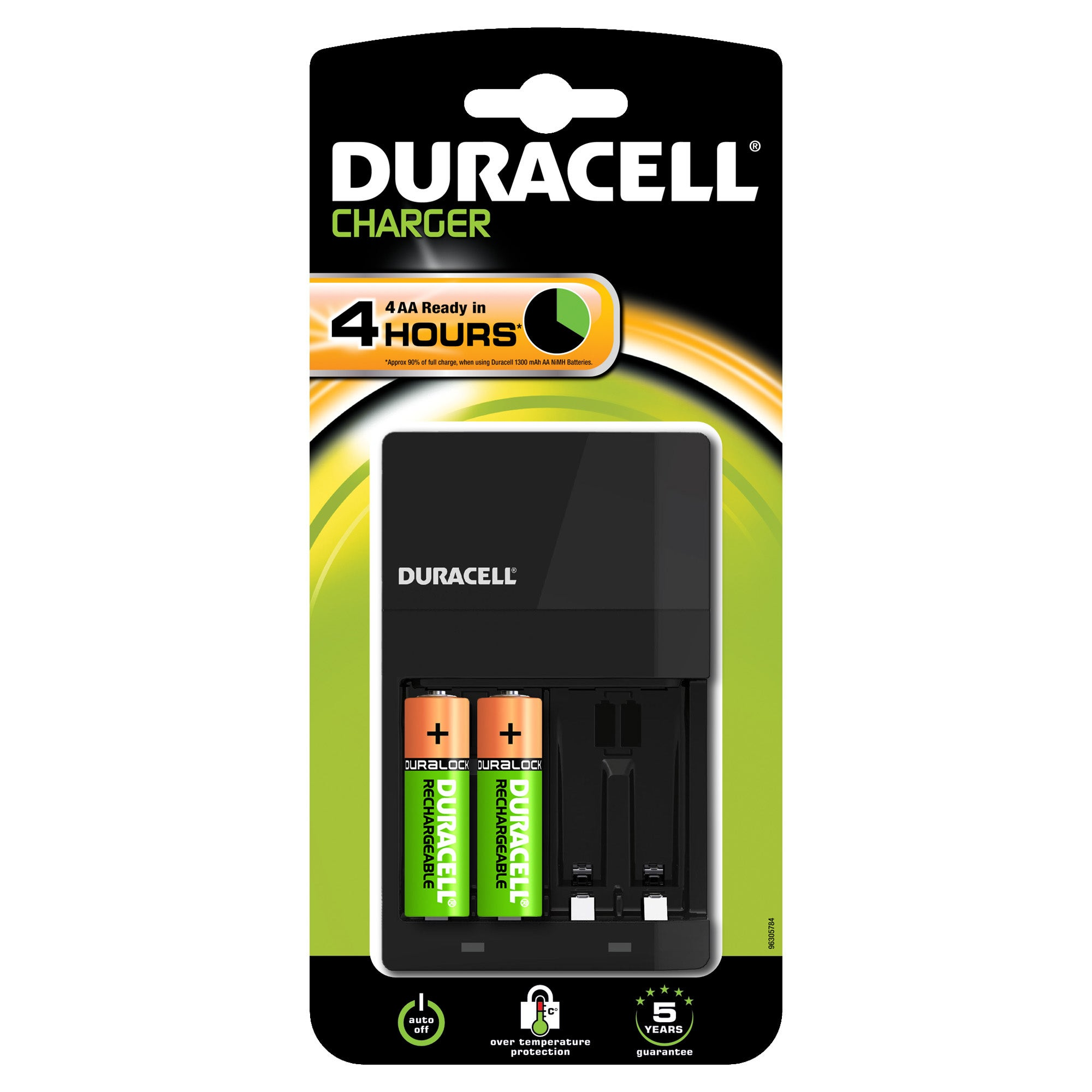 Duracell Charger & 2 AA Batteries
