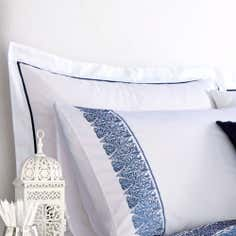 Blue Indi Collection Oxford Pillowcase