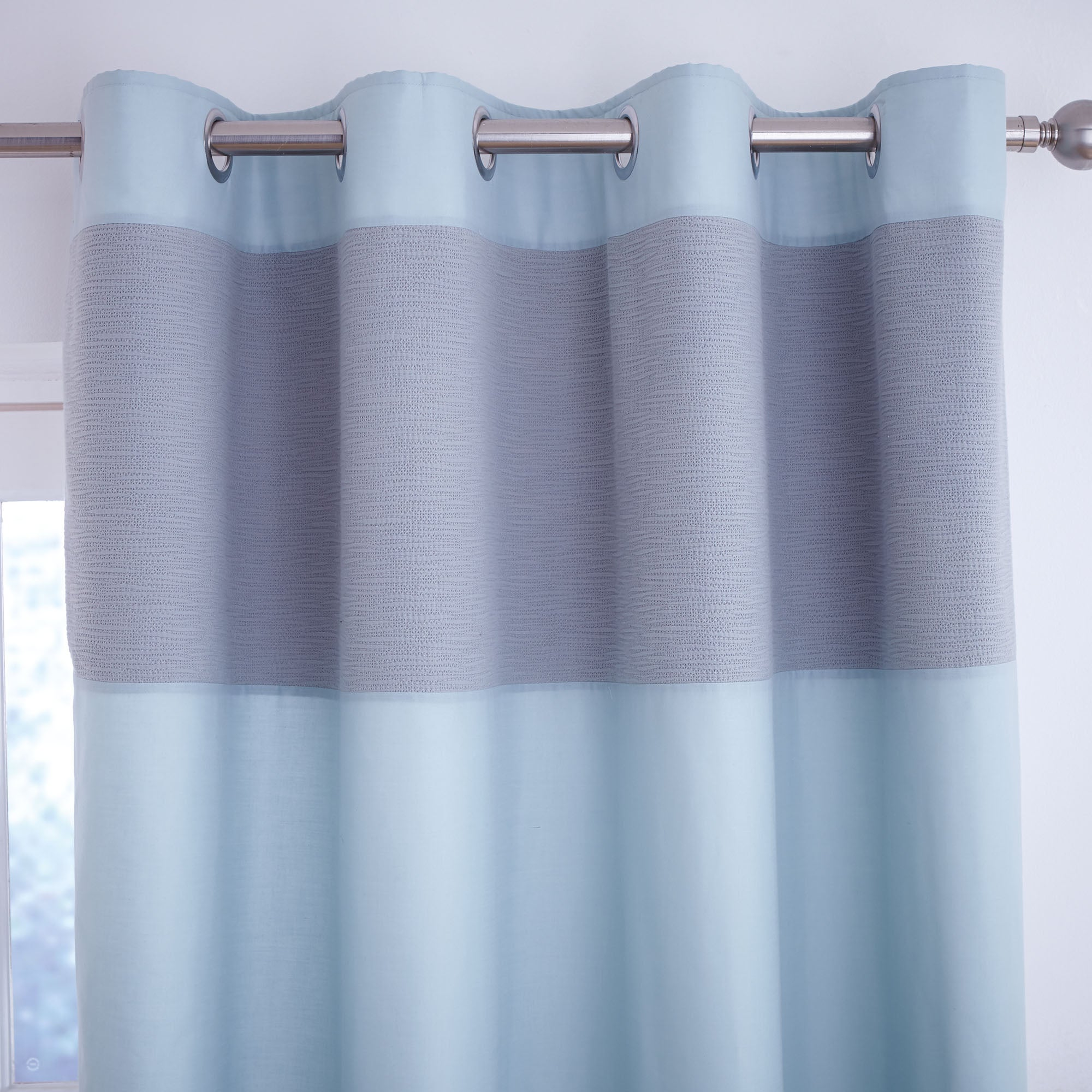 Teal Vancouver Thermal Eyelet Curtains