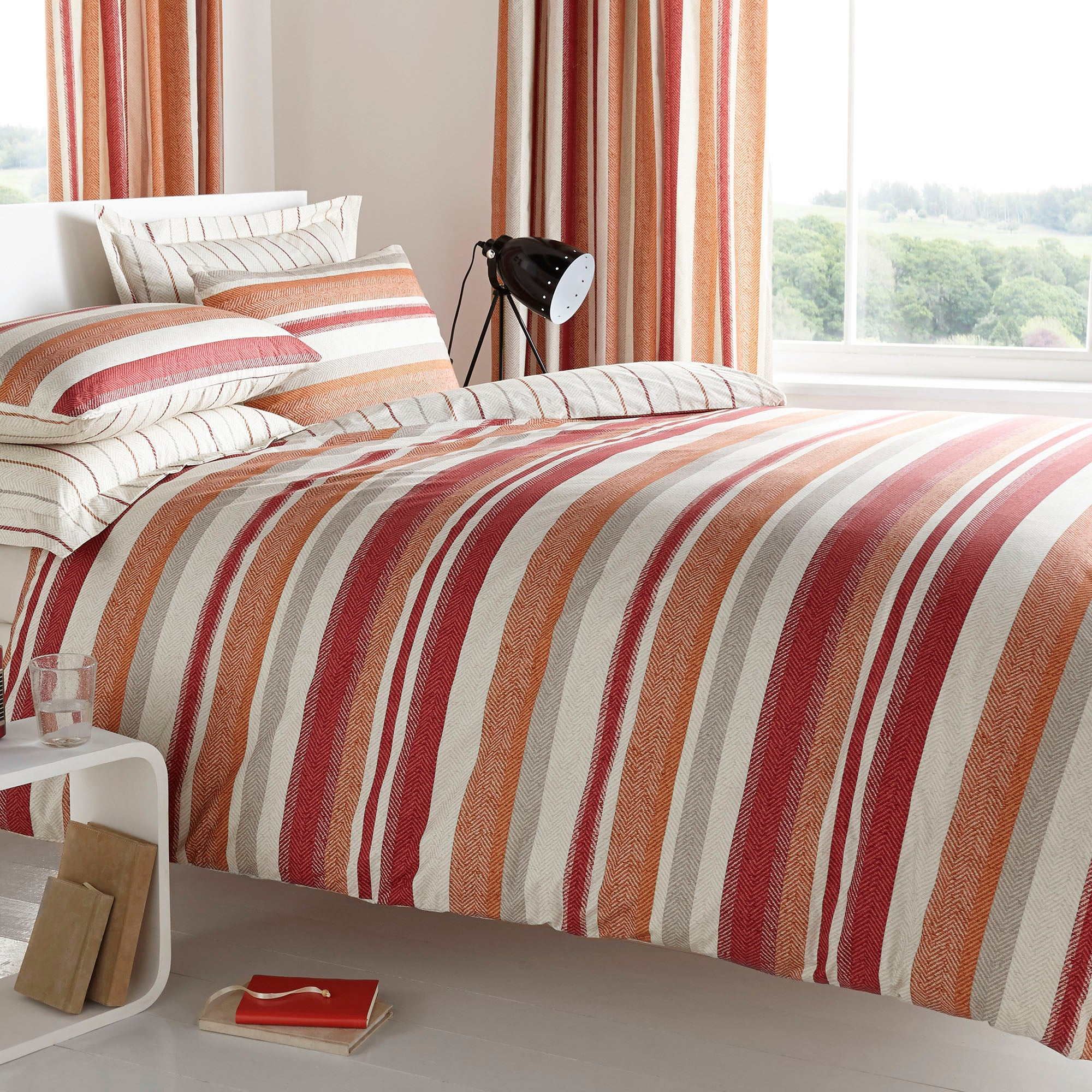 Boston Stripe Collection Duvet Cover Set