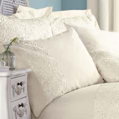 Cream Chloe Rose Collection Housewife Pillowcase