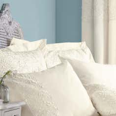 Cream Chloe Rose Collection Oxford Pillowcase