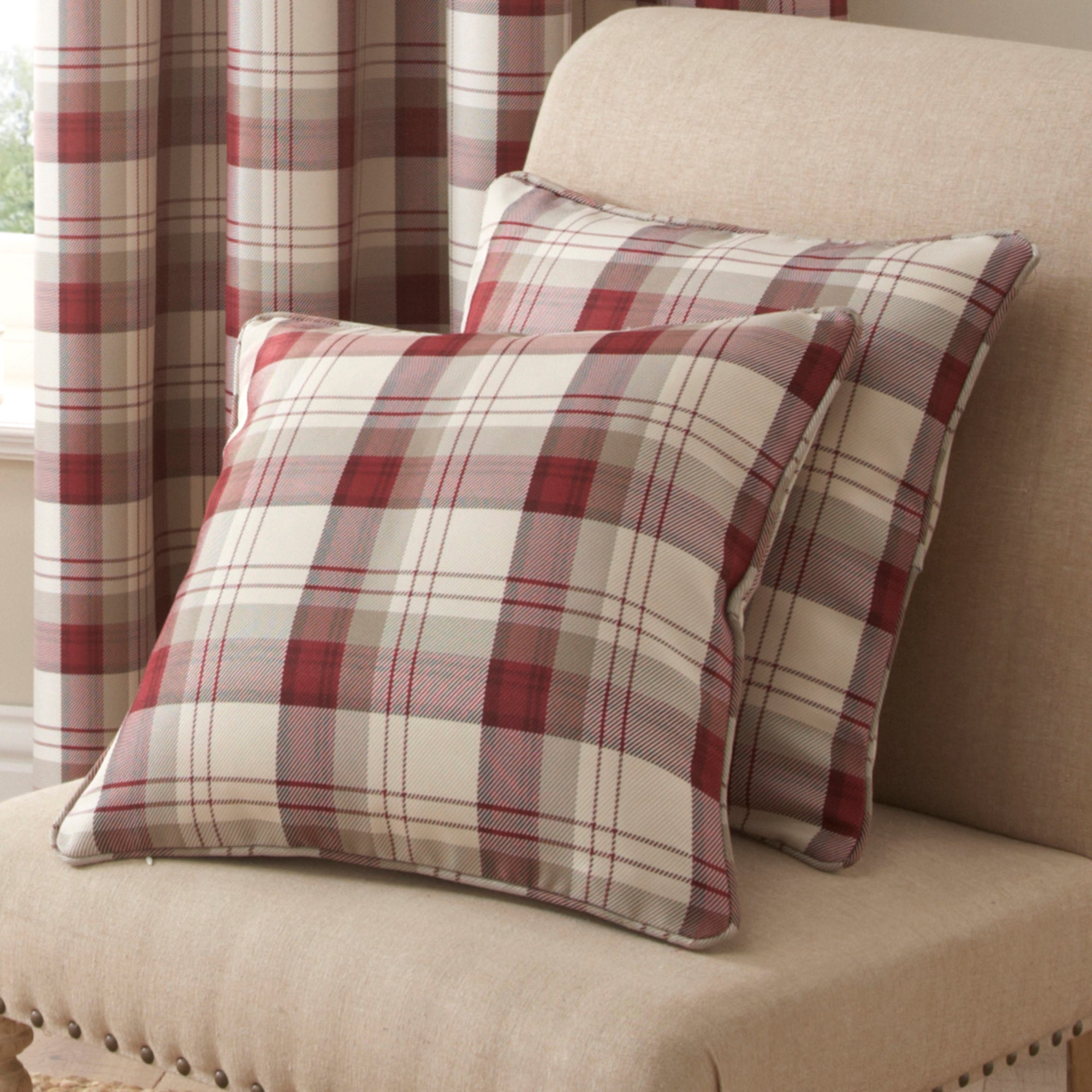 Red Balmoral Collection Cushion