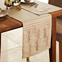 Natural Fern Table Runner
