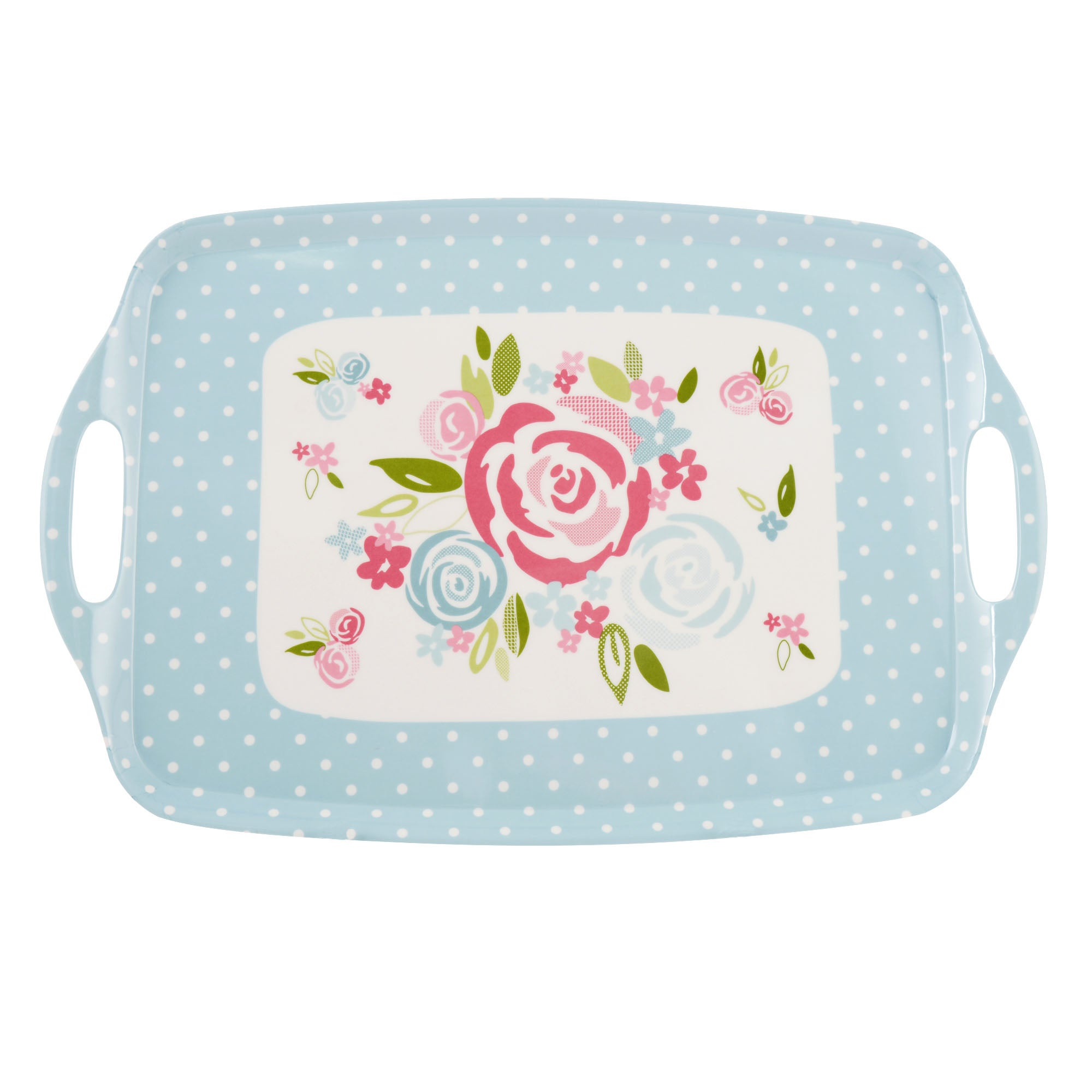 Candy Rose Collection Large Handled Tray