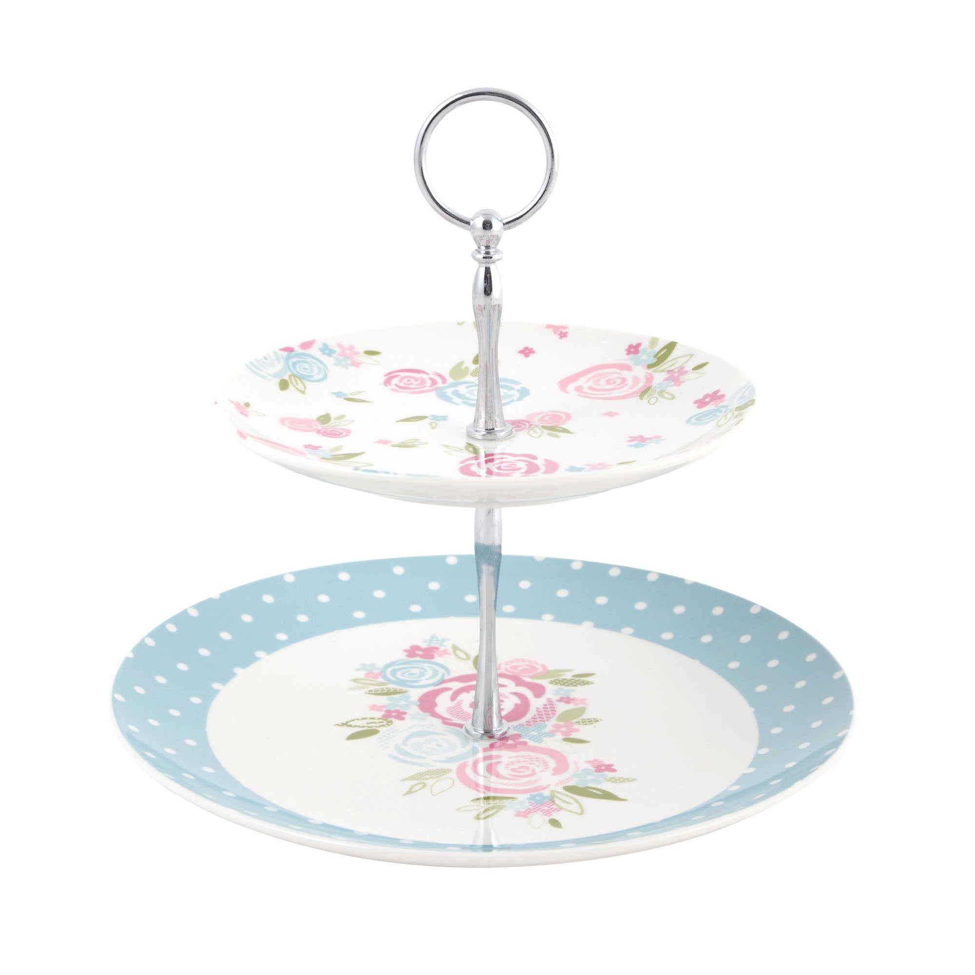 Candy Rose Collection Two Tier Cake Stand