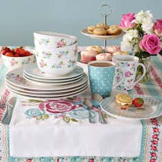 Candy Rose Collection 12 Piece Dinner Set