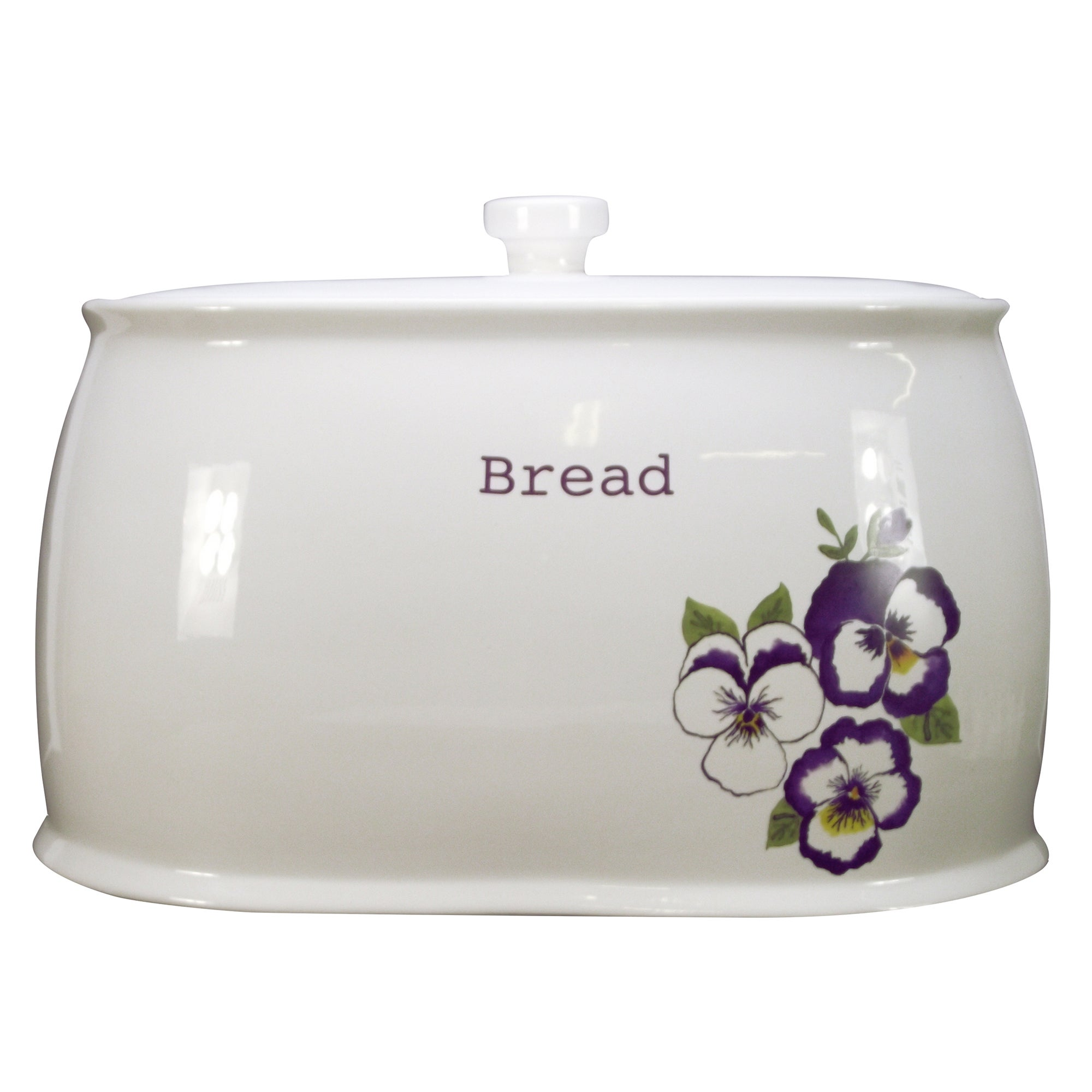 Purple Pansy Collection Bread Bin