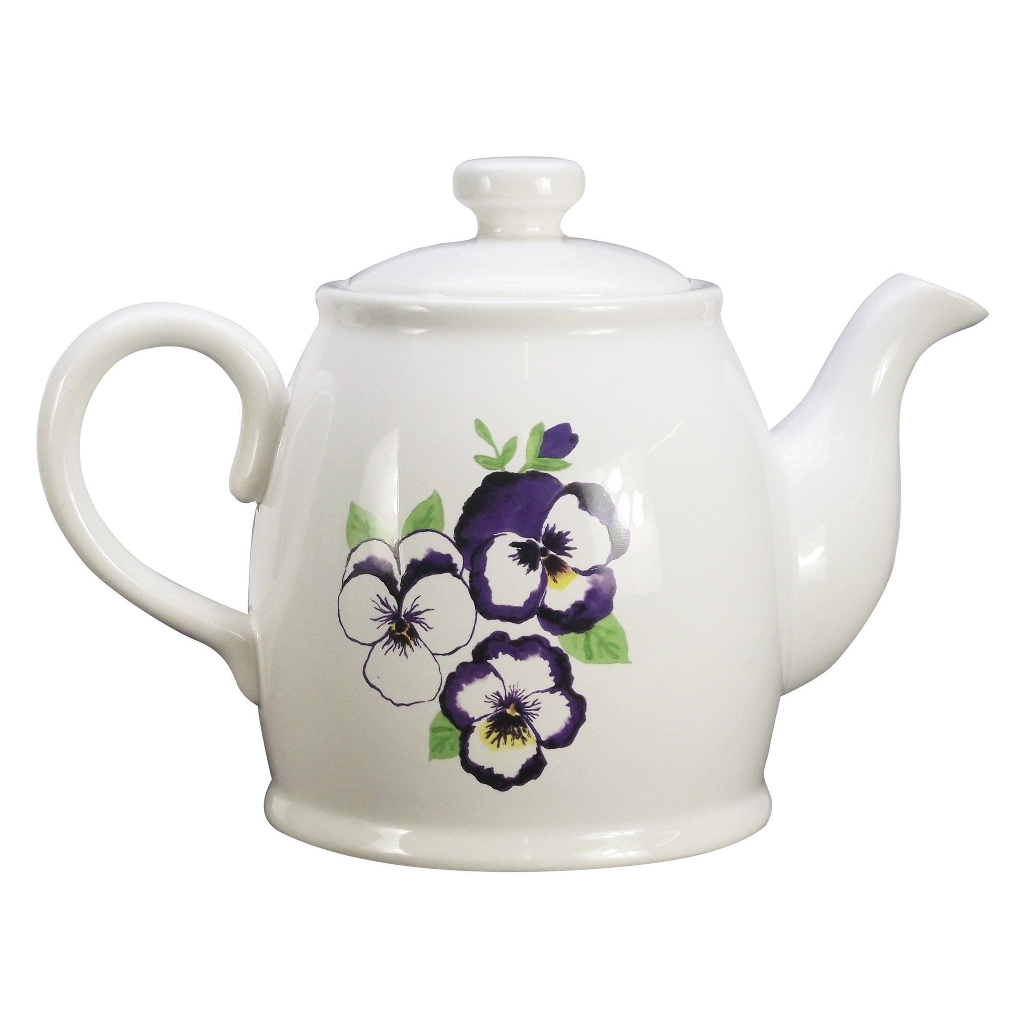 Purple Pansy Collection Teapot