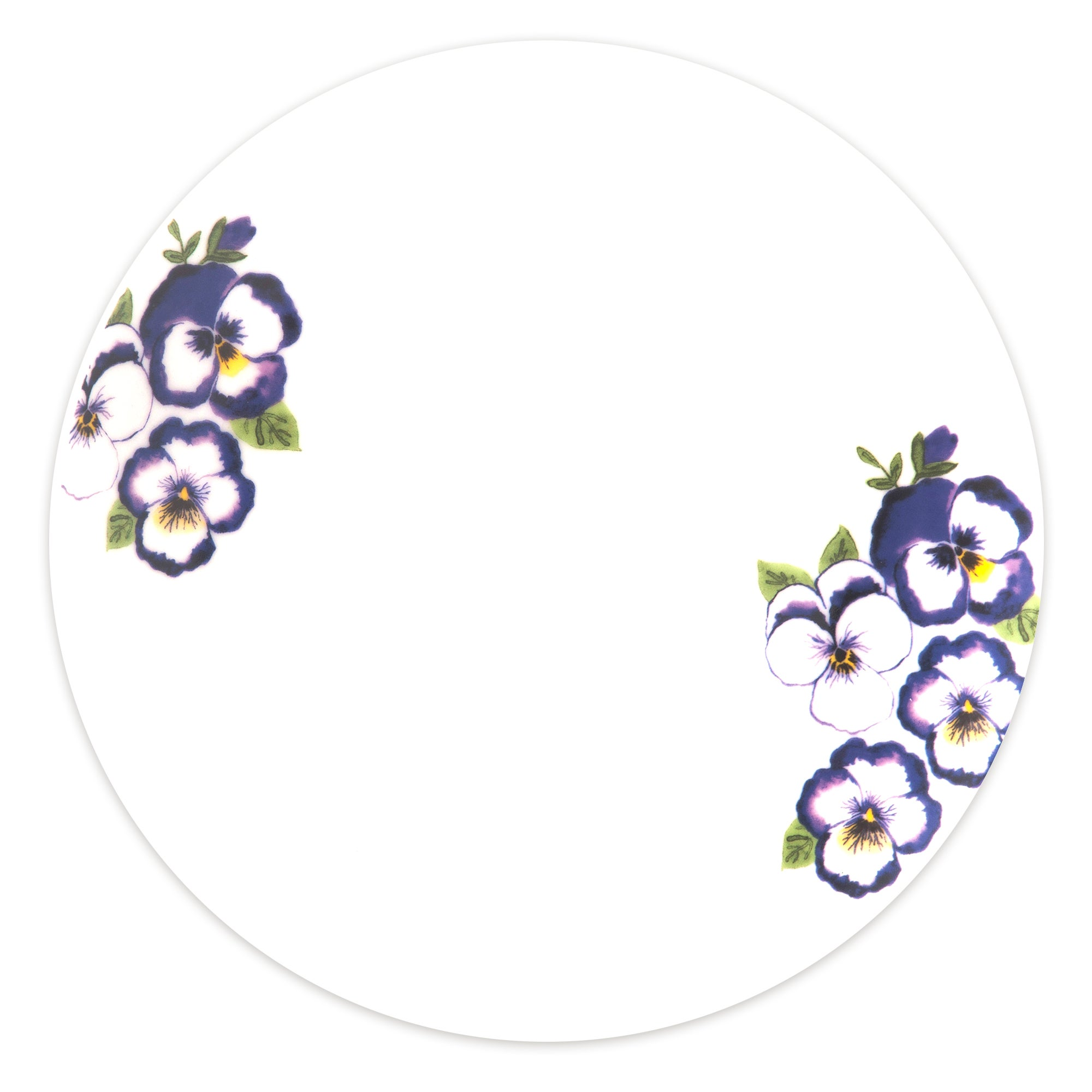 Purple Pansy Collection Dinner Plate