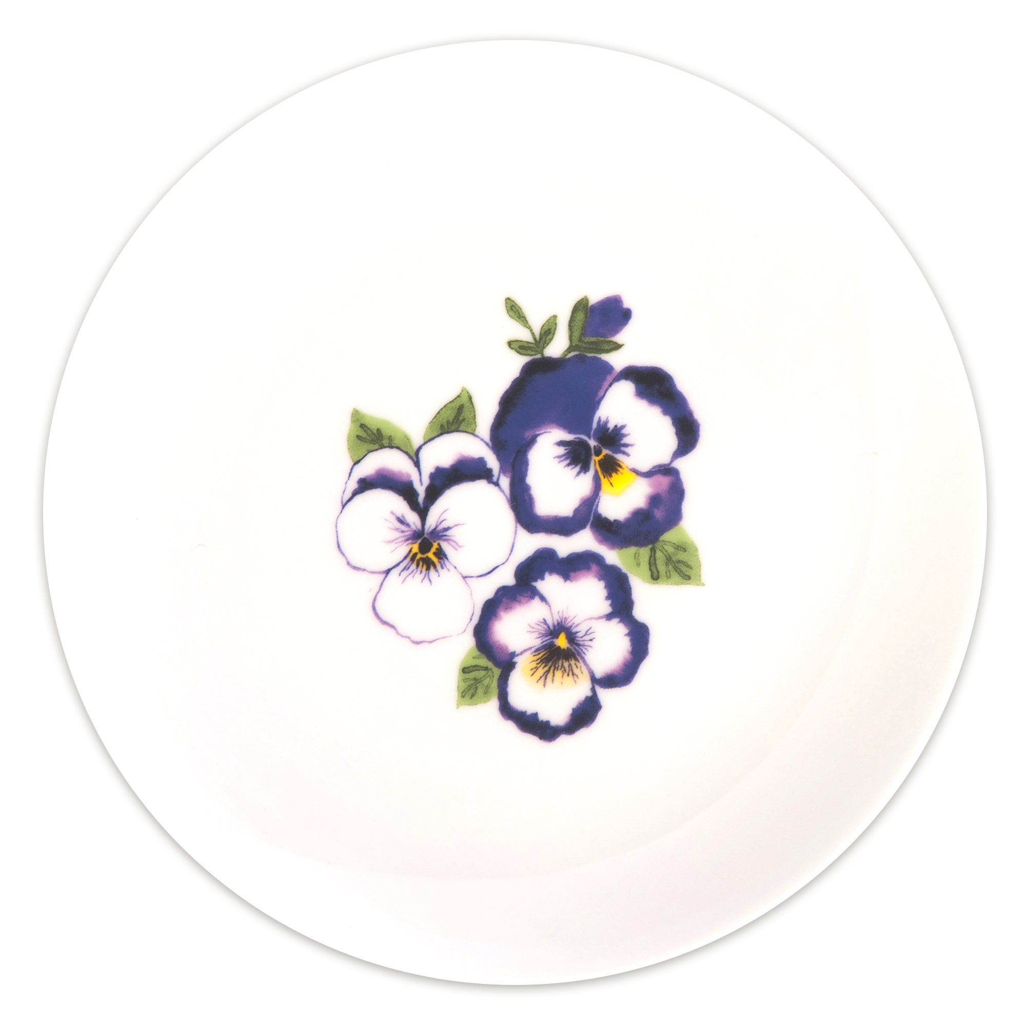 Purple Pansy Collection Side Plate