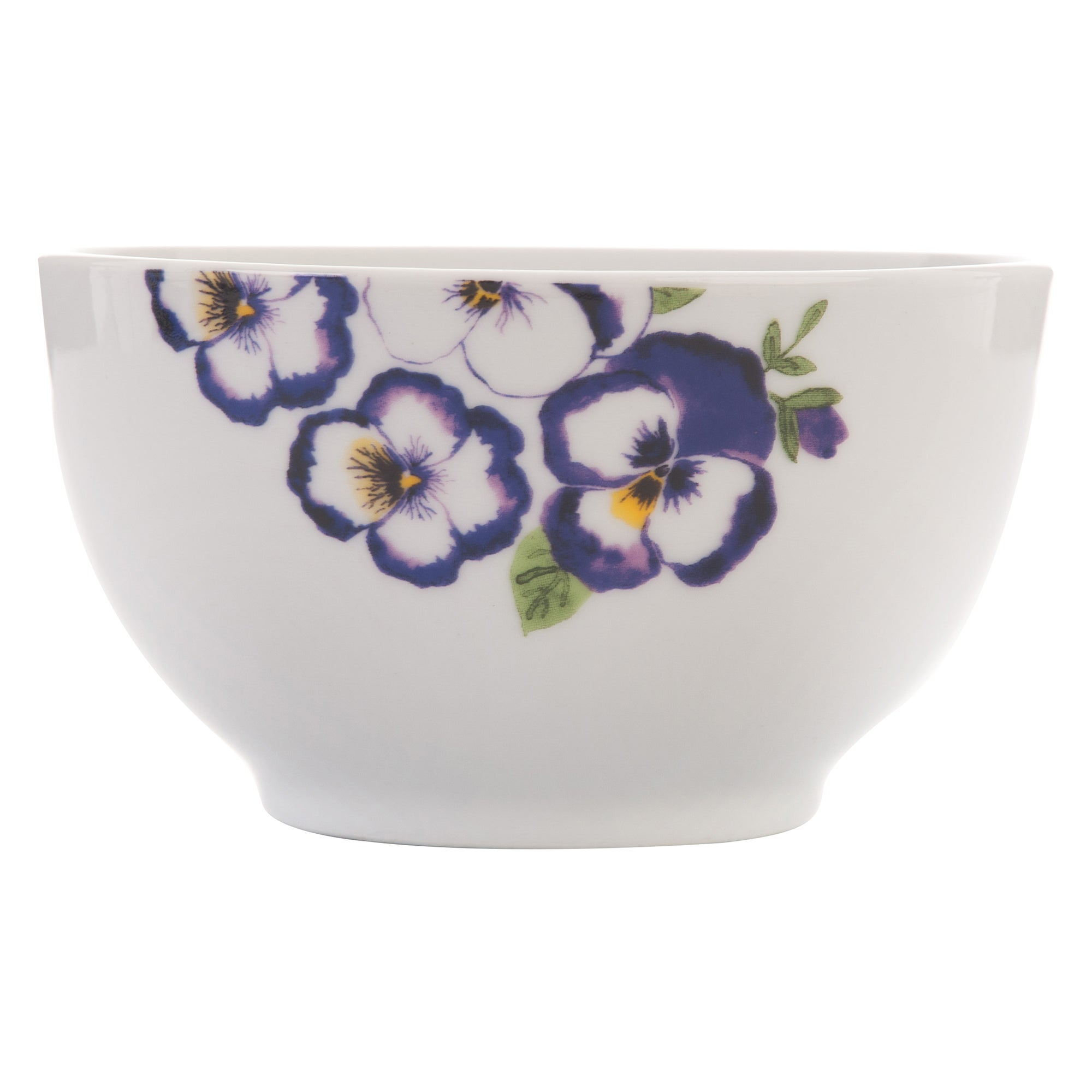 Purple Pansy Collection Bowl