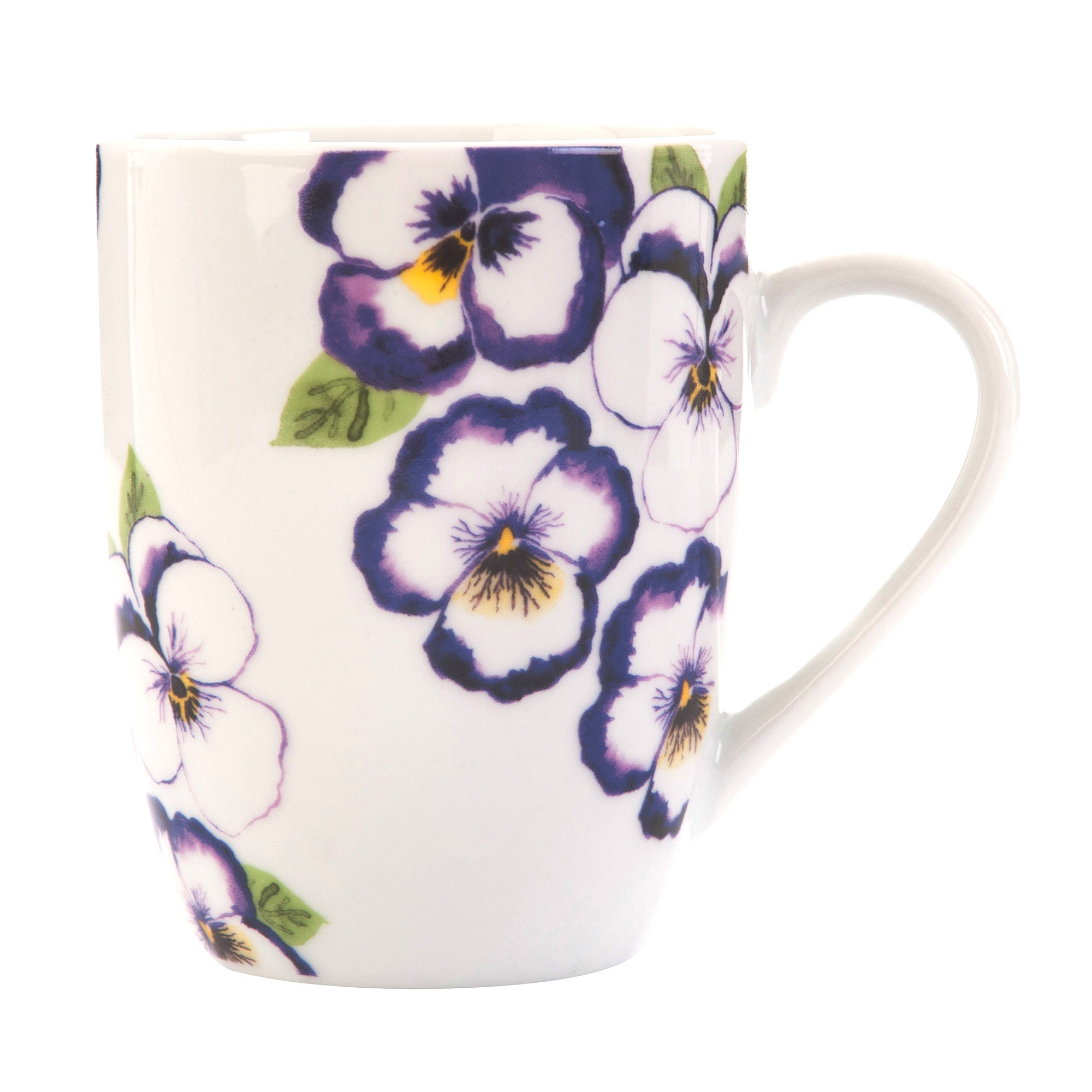 Purple Pansy Collection White Mug
