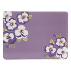 Purple Pansy Collection Set of 4 Placemats