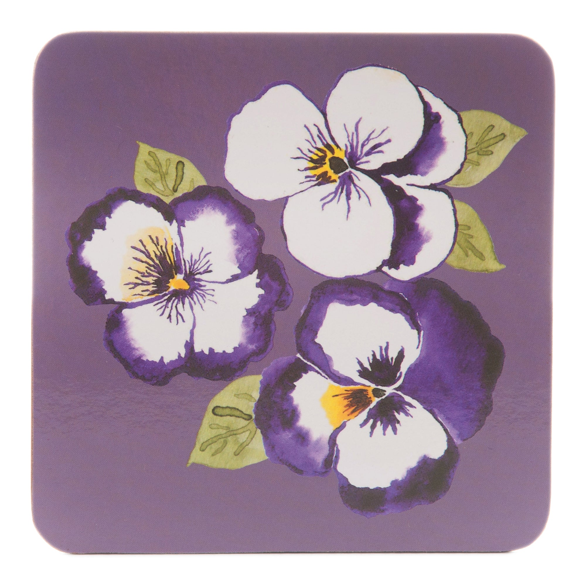 Purple Pansy Collection Set of 4 Coasters