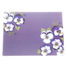 Purple Pansy Collection Glass Worktop Saver