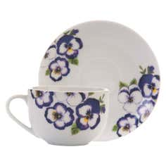 Purple Pansy Collection Cup and Saucer