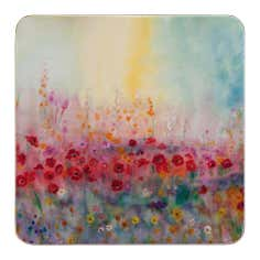 Pack of 4 Poppy Field Coasters