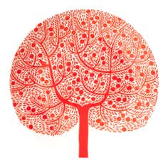 Royal Doulton Fable Collection Red Tree Accent Side Plate