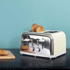 Candy Rose Collection Cream 4 Slice Toaster