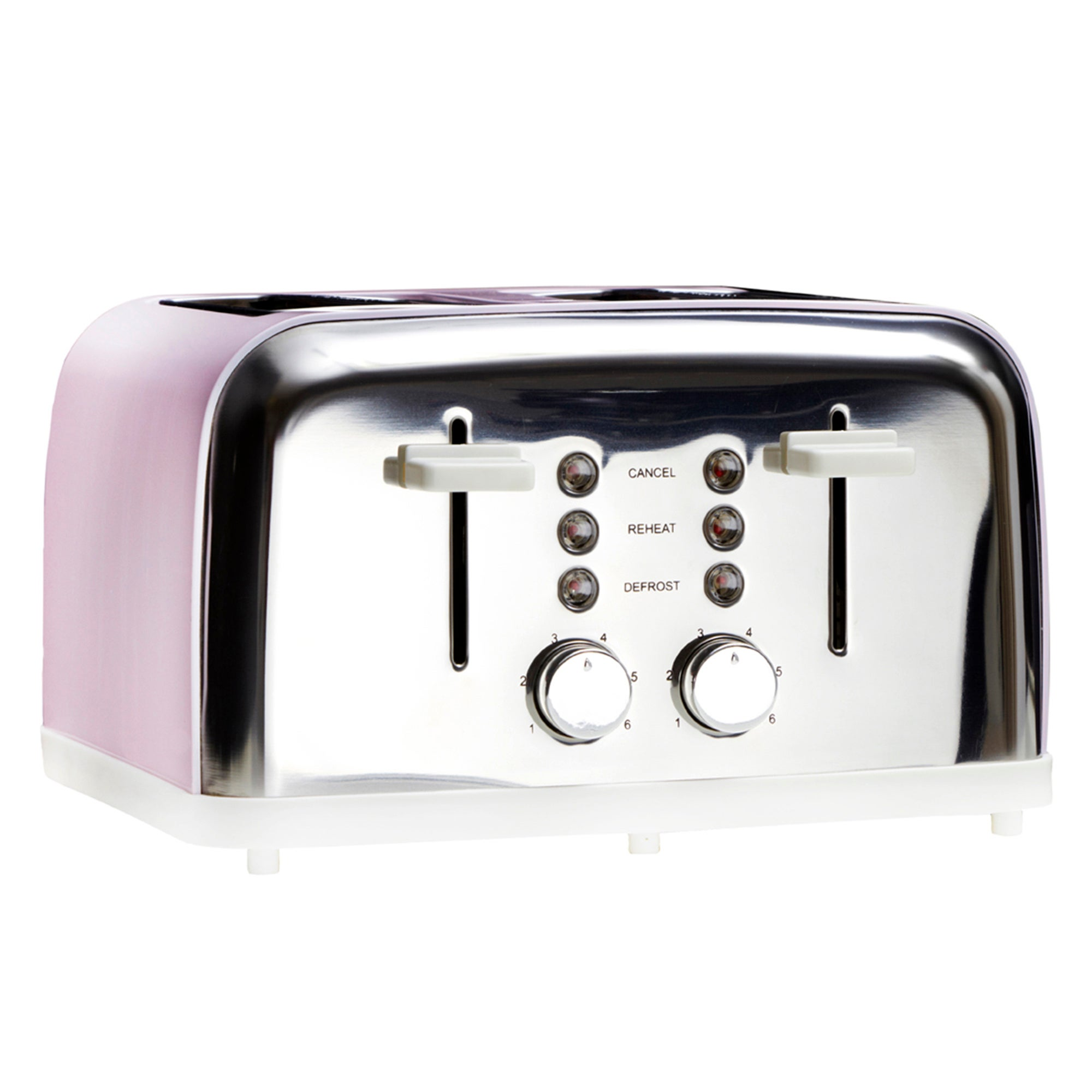 Candy Rose Collection Pink 4 Slice Toaster