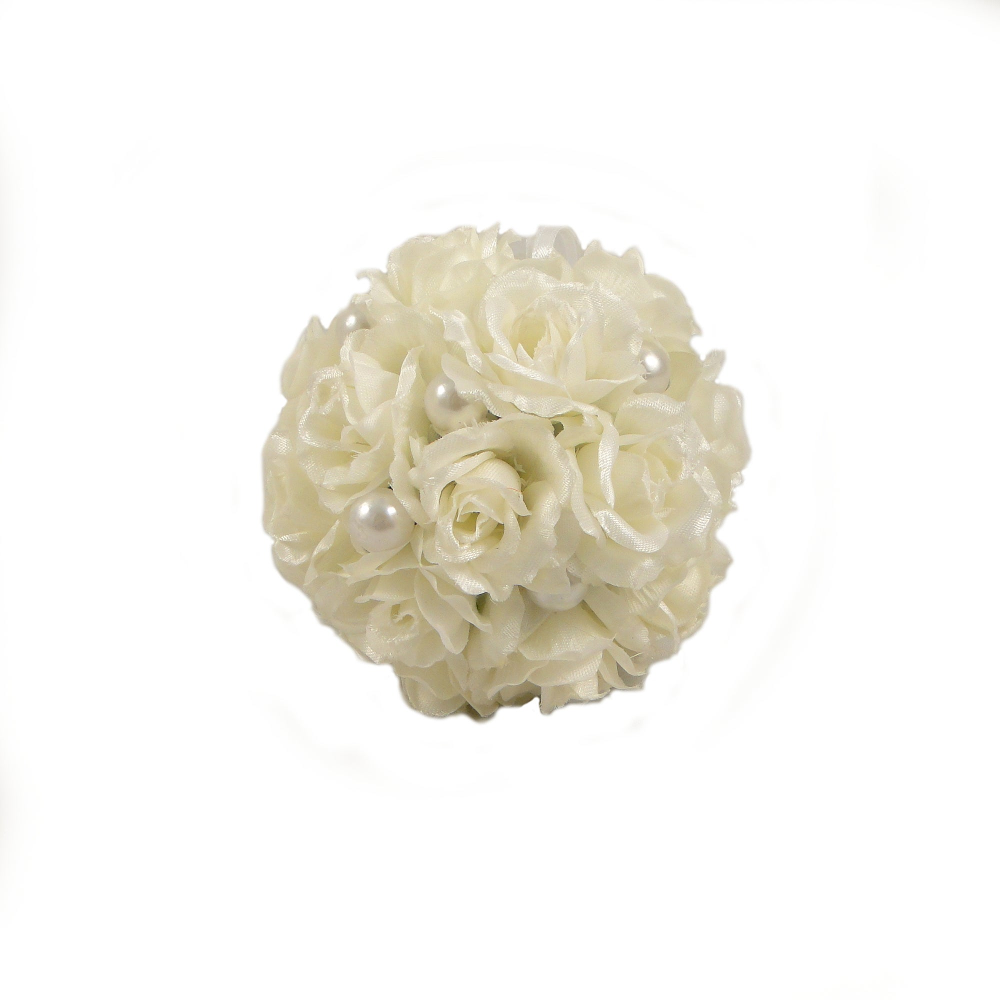 White Rose Wedding Pomander