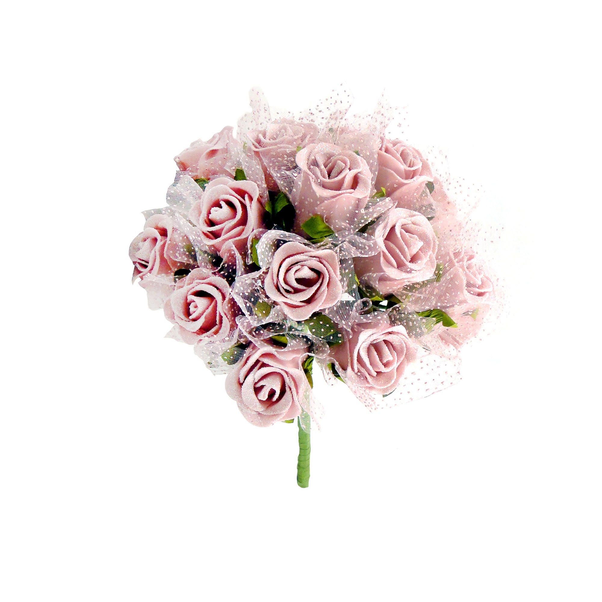Rose Wedding Organza Posy