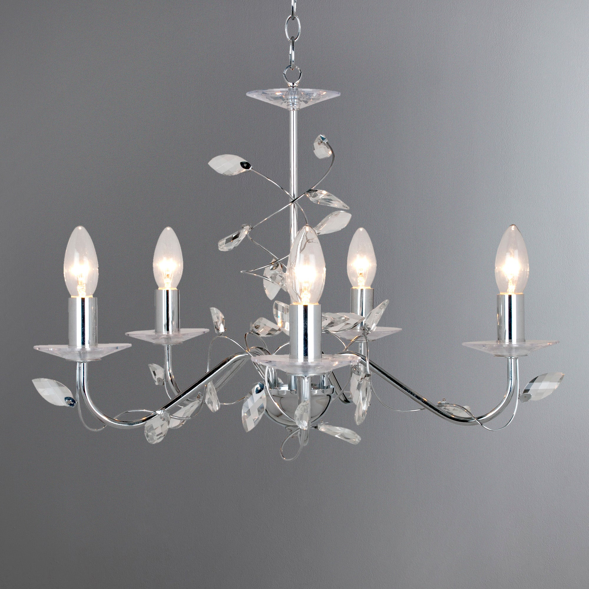 Beatrice Twist Jewelled 5 Light Fitting