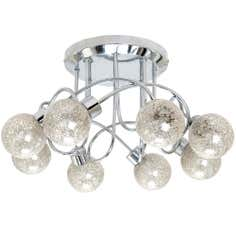 Glitter Ball Eight Light Chrome Ceiling Fitting