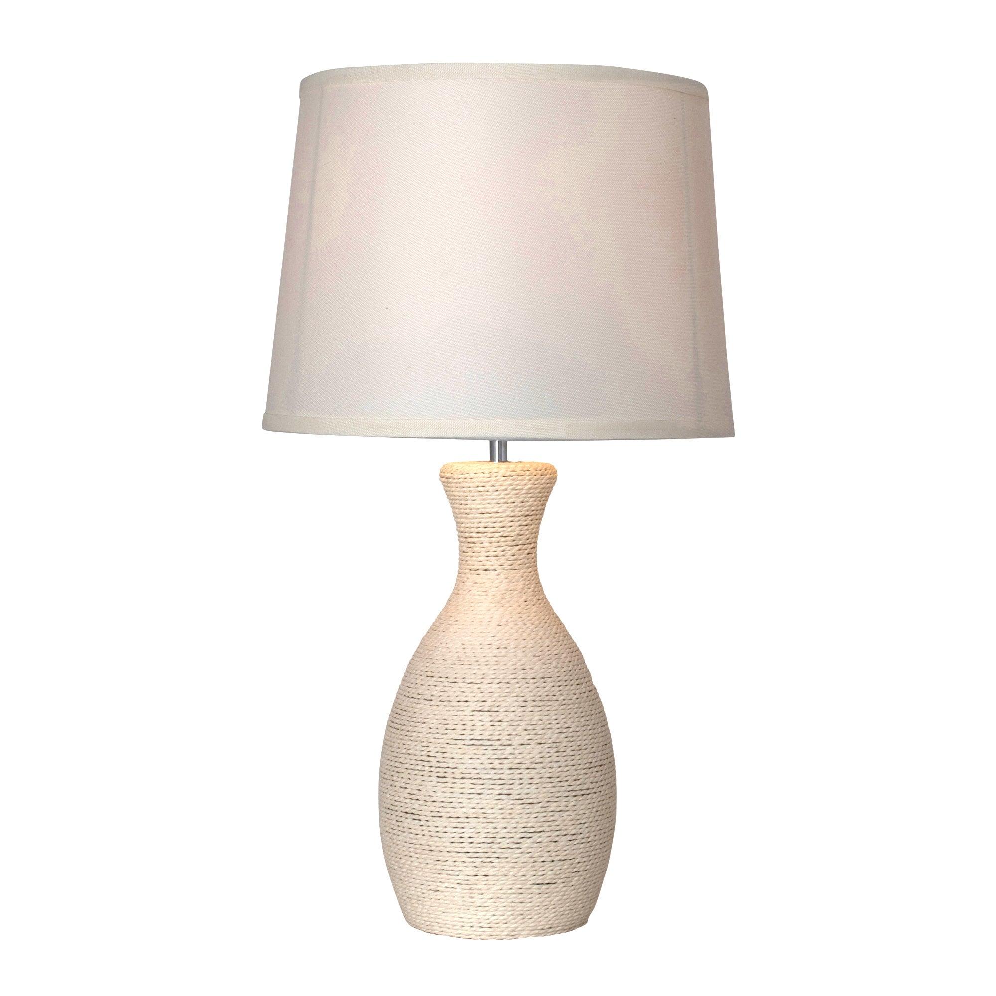 cream string bottle table lamp dunelm. Black Bedroom Furniture Sets. Home Design Ideas