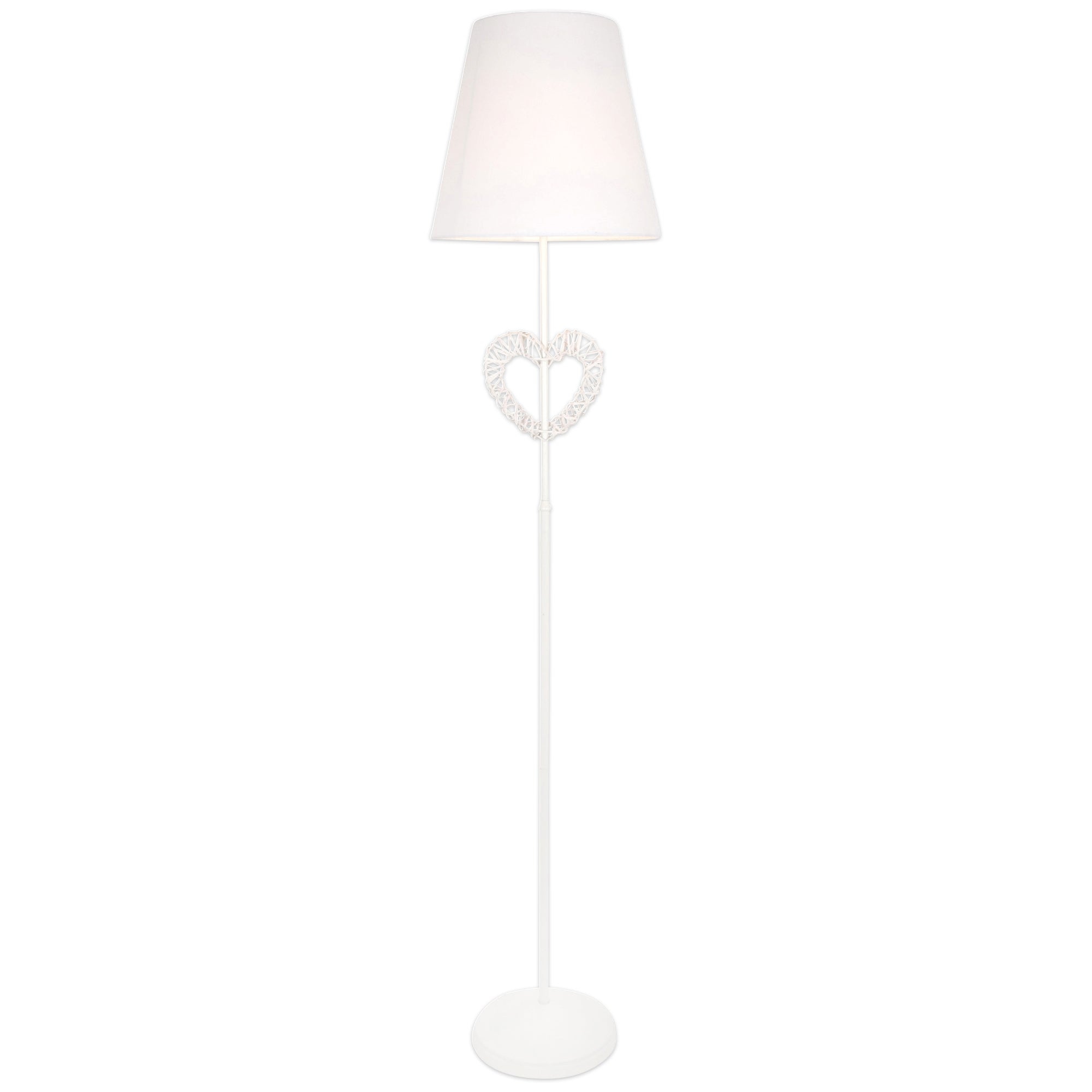Wicker Heart Floor Lamp