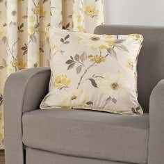Yellow Vivien Collection Cushion