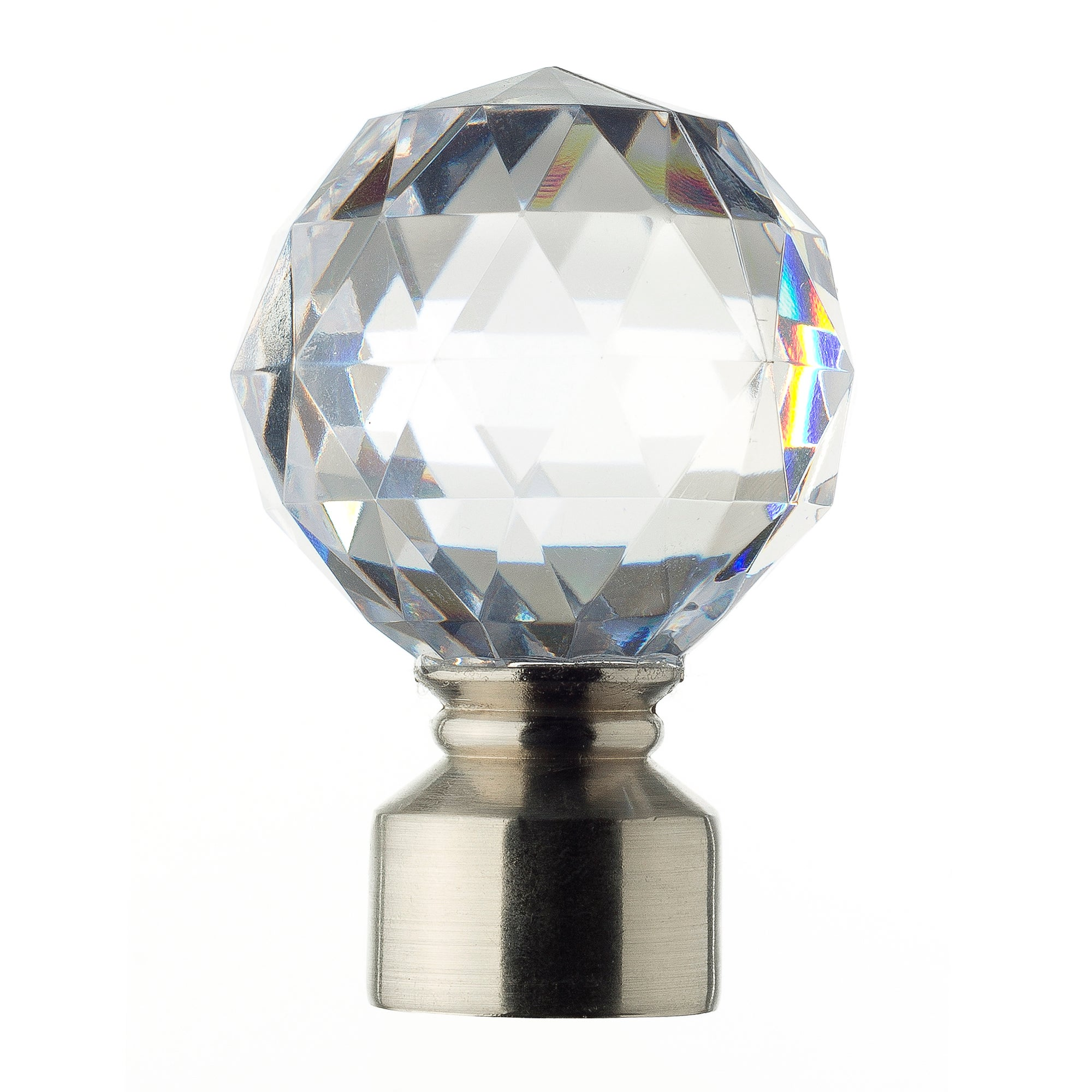 Mix and Match Collection Satin Steel Faceted Ball Finials
