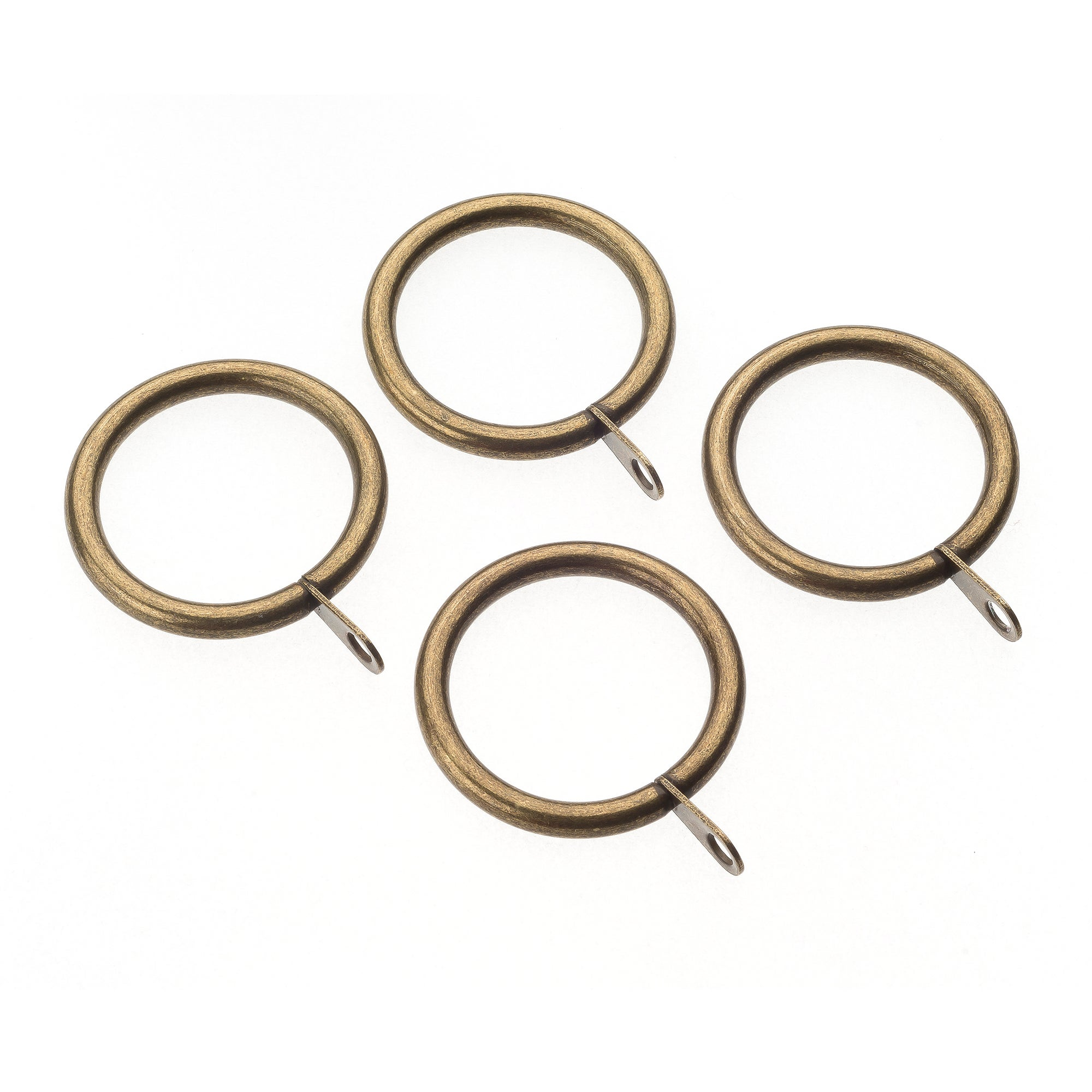 Mix and Match Collection Pack of 4 Antique Brass Curtain Rings