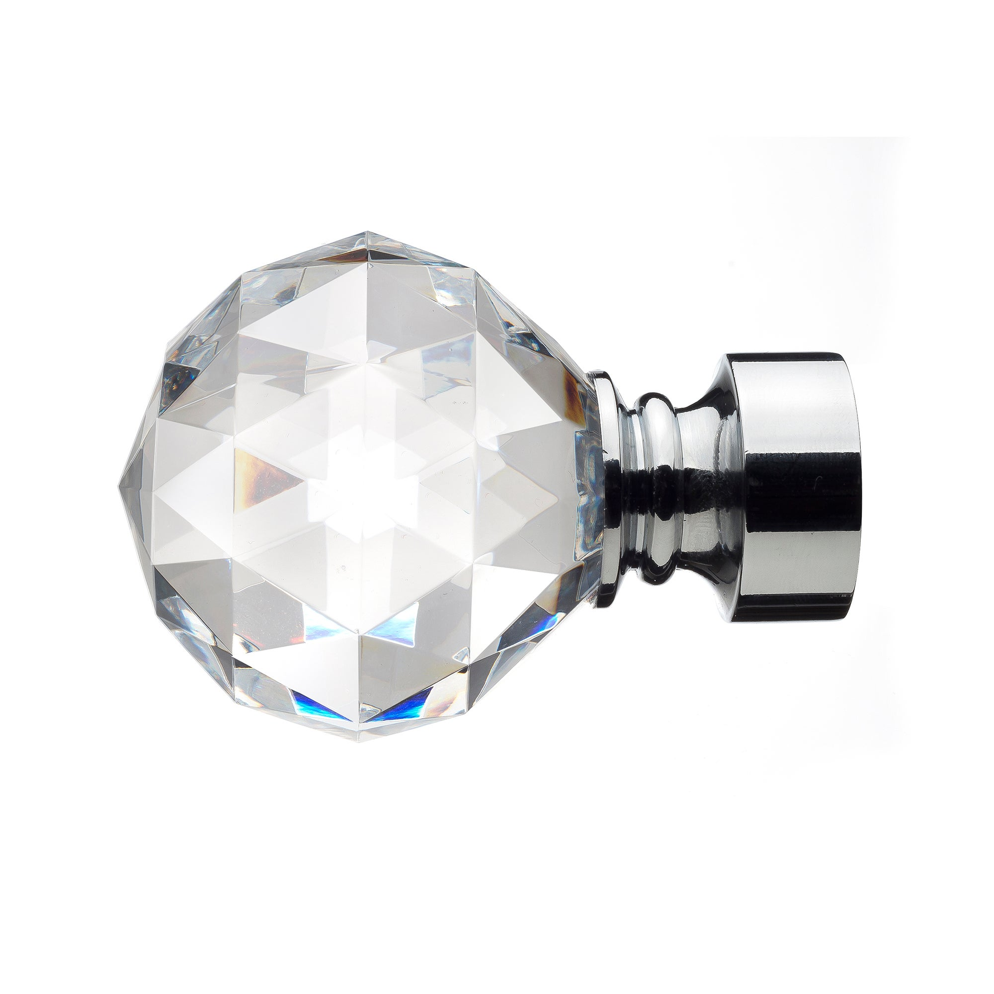 Mix and Match Collection Faceted Chrome Finials