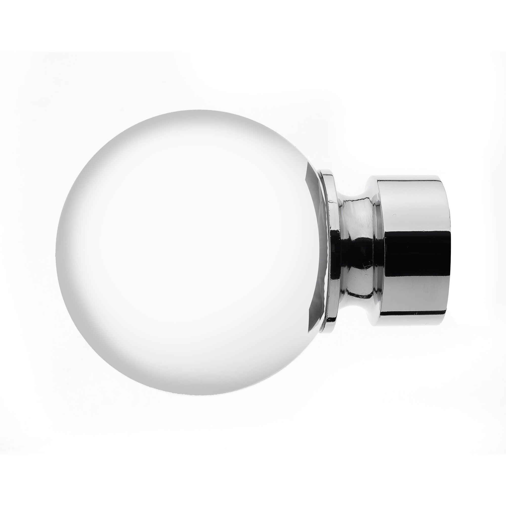 Mix and Match Collection Clear Ball Chrome Finials