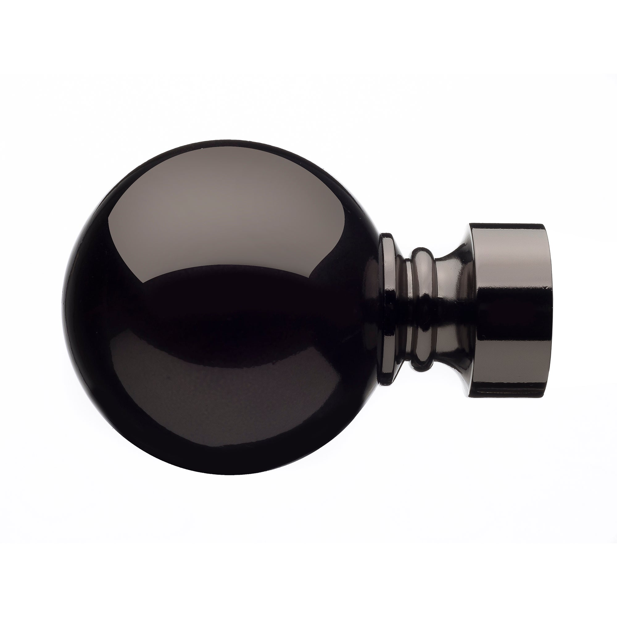 Mix and Match Collection Ashton Black Nickel Finials