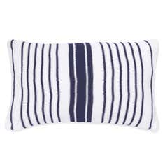 Blue Nautical Stripe Boudoir Cushion