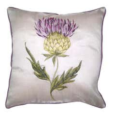 Mauve Thistle Cushion