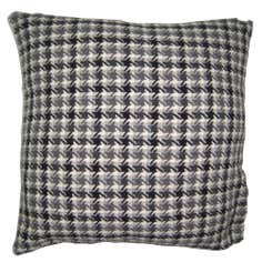 Black Woven Check Cushion