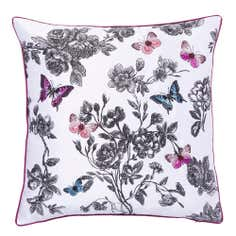 Embroidered Butterfly Cushion
