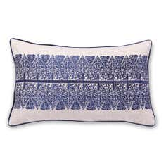 Blue Bazaar Embroidered Boudoir Cushion