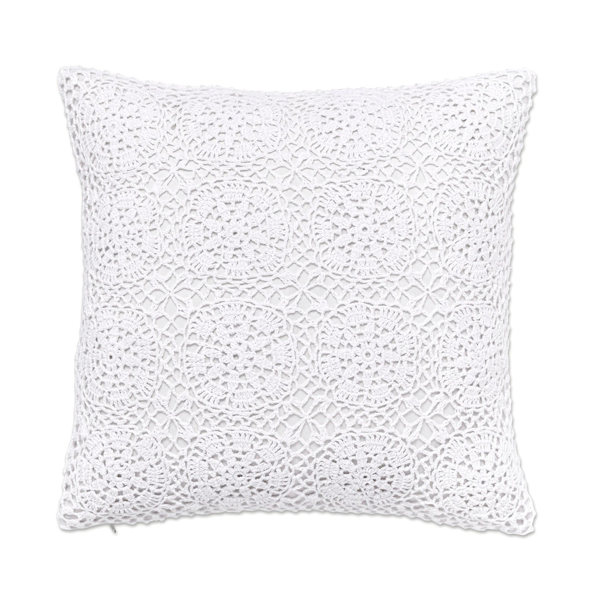 Coralie Crochet Cushion